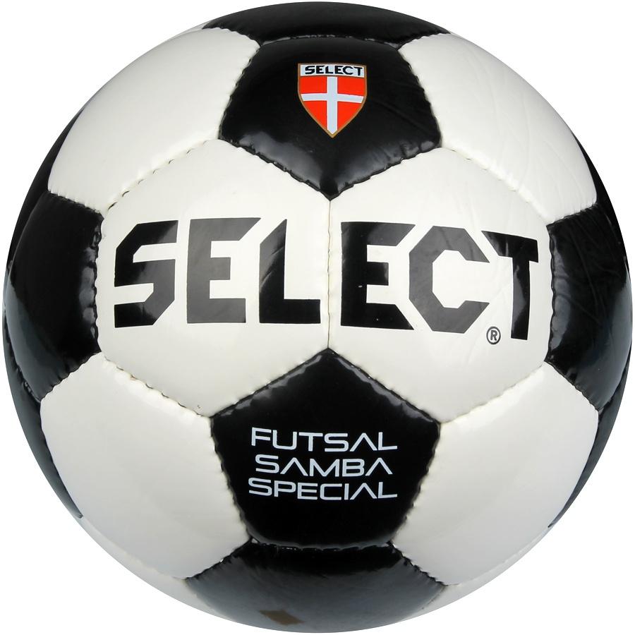 Piłka nożna halowa 4 Select Samba biało-czarna