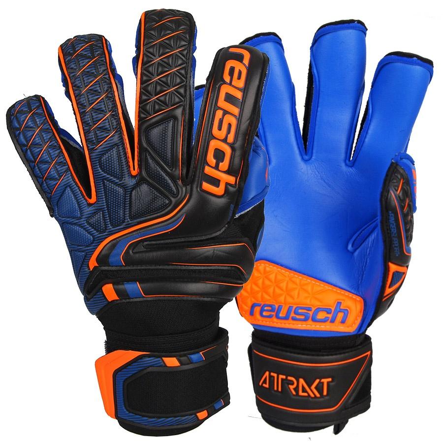 Rękawice bramkarskie Reusch Attrakt S1 Evolution Finger Support 50 70 238 7083