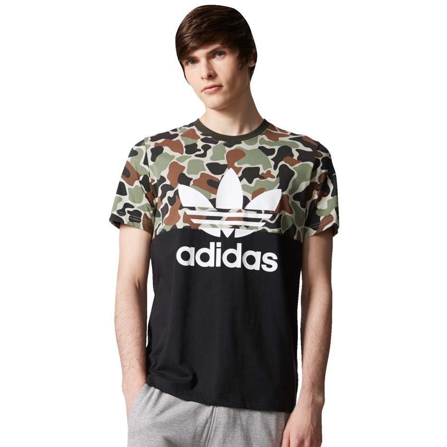 Koszulka adidas Originals S/S CAMO COLOR BLOCK TEE CD1696