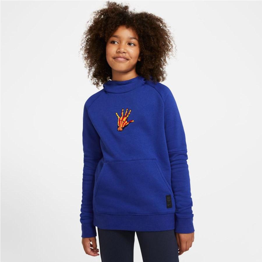 Bluza piłkarska Nike FC Barcelona Fleece Pullover Soccer Hoodie CN1000 455