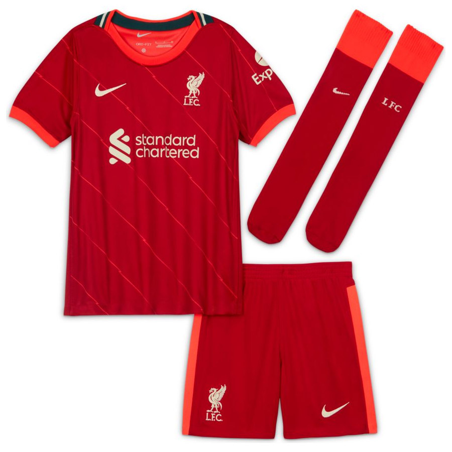 Komplet Nike Liverpool FC 2020/21 Home Little Kids' Soccer Kit DB2544 688