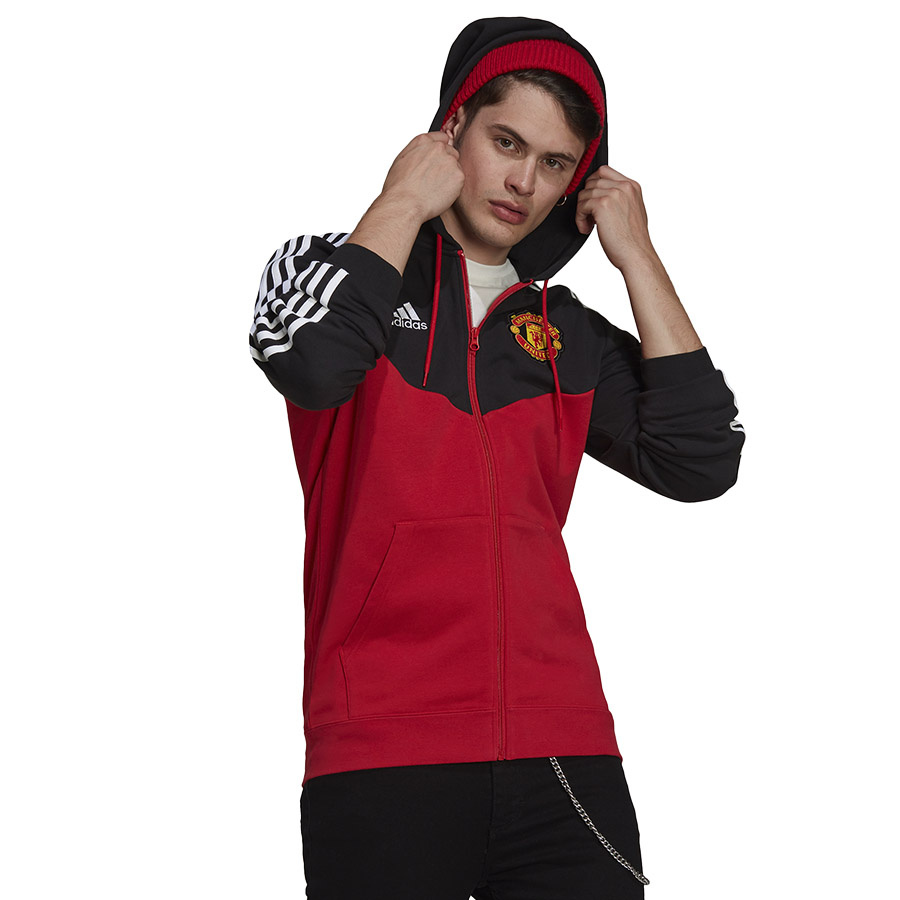 Bluza adidas Manchester United 3-Stripes Fullzip Hoody GR3896