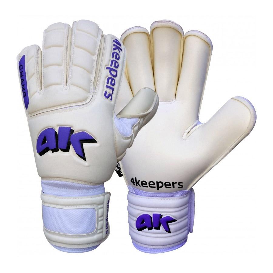 Rękawice bramkarskie 4keepers Champ Purple RF  + płyn czyszczący