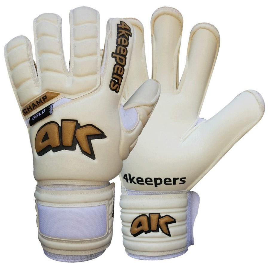 Rękawice 4keepers Champ Gold HB III białe + płyn czyszczący S494313