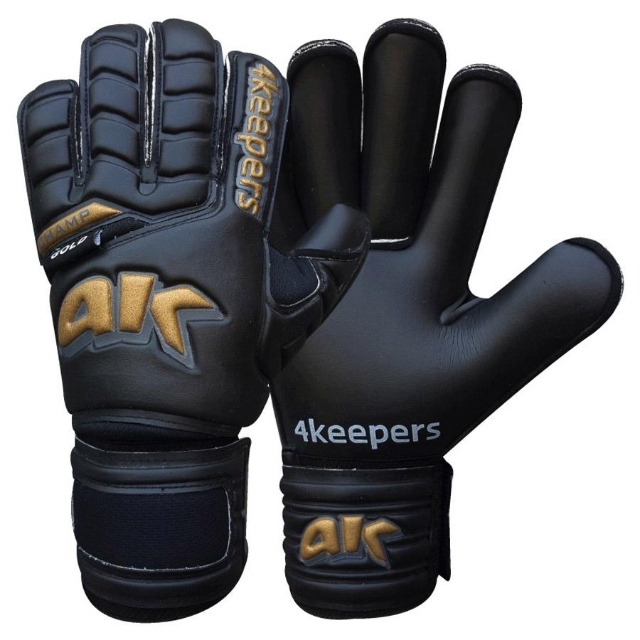 Rękawice 4Keepers Champ Gold Black III RF+ płyn czyszczący