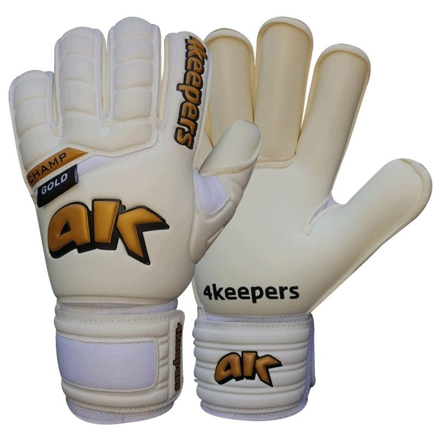 Rękawice 4keepers Champ Gold III NC białe + płyn czyszczący
