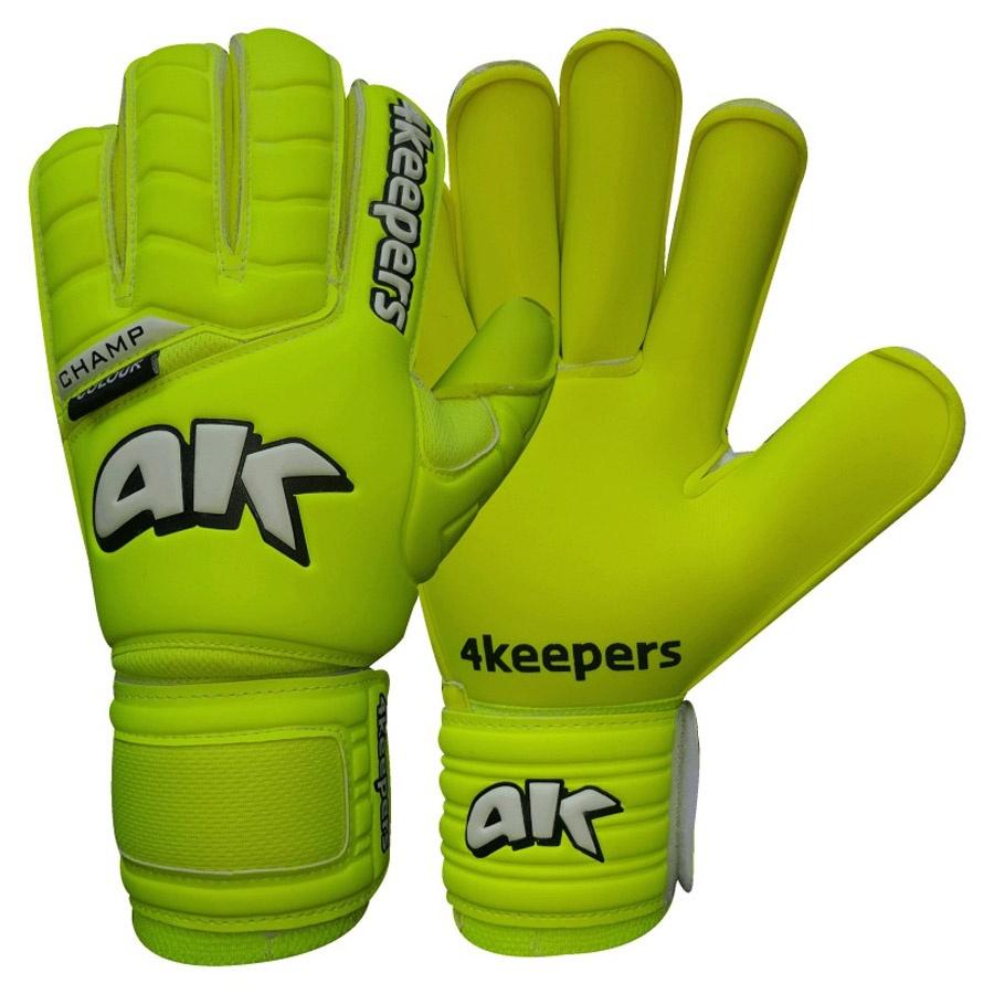 Rękawice 4keepers Champ Colour Lime RF + płyn czyszczący