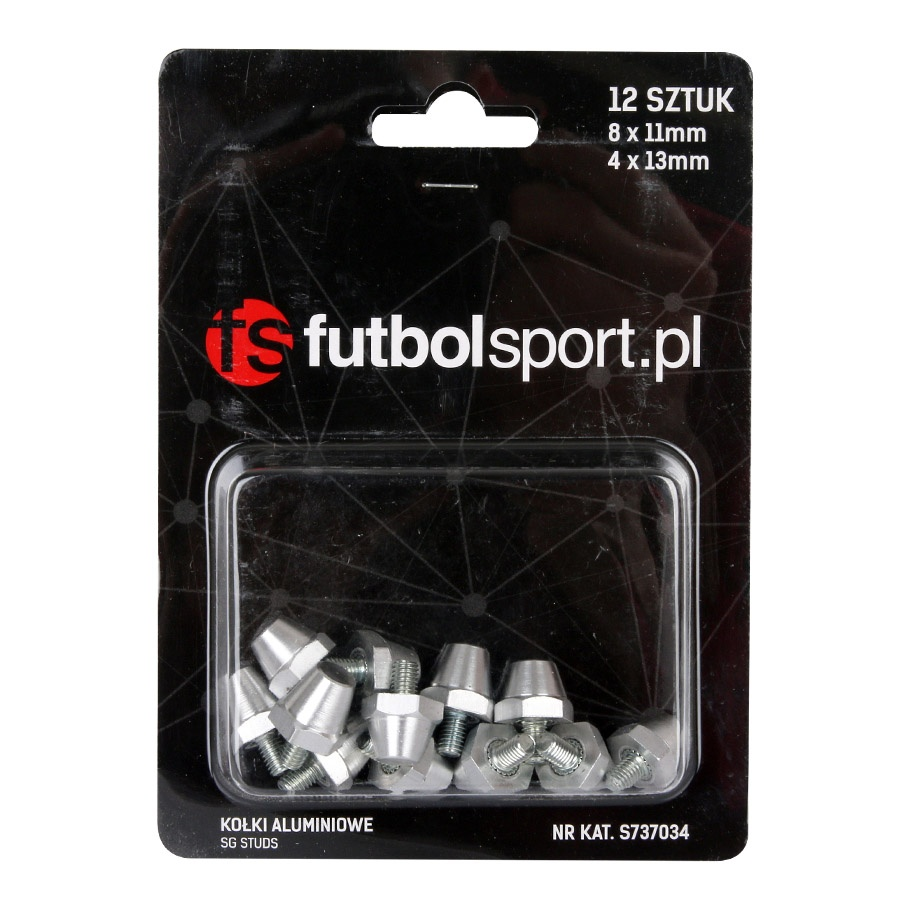 Kołki futbolsport aluminiowe 8x11mm + 13mm