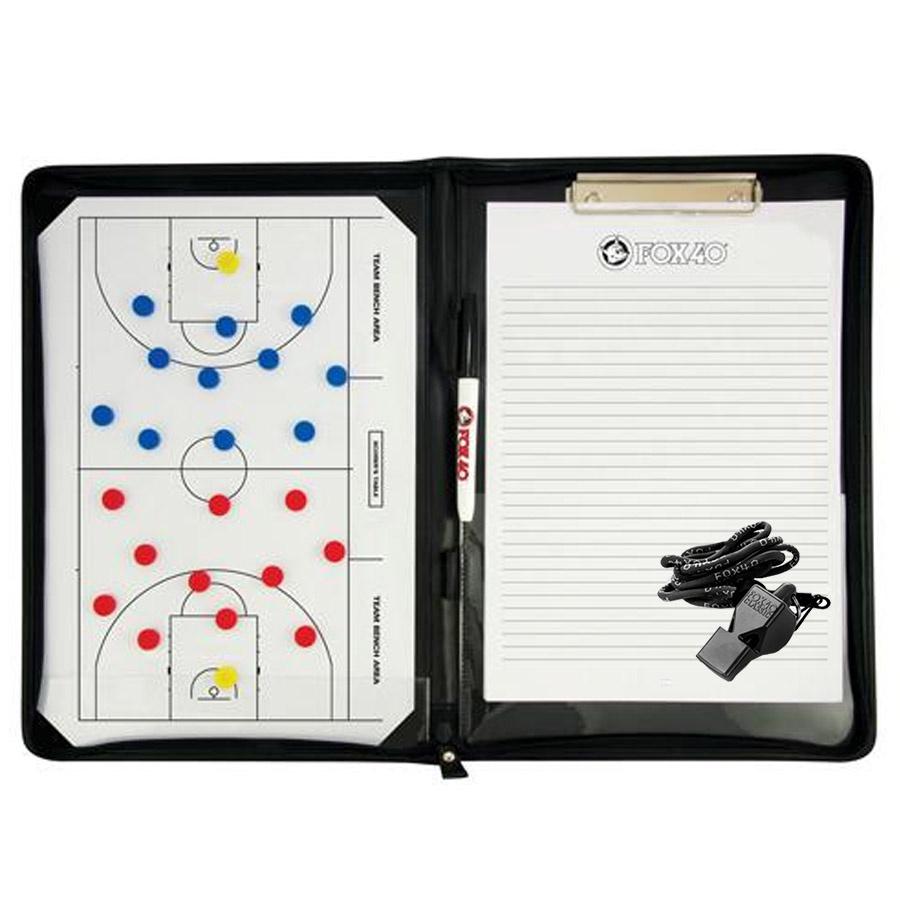 Tablica taktyczna piłka koszykowa - magnetyczna A4 + notatnik + gwizdek piłka koszykowa