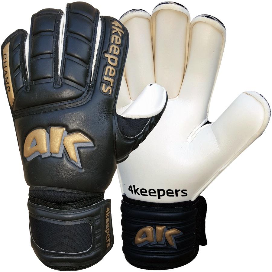 Rękawice 4Keepers Champ Gold Black RF+ płyn czyszczący S407504