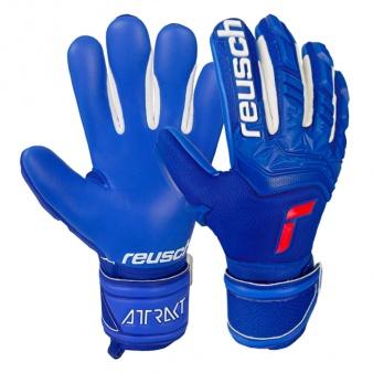 Rękawice bramkarskie Reusch Attrakt Freegel Silver Finger Support Junior51 72 238 4010