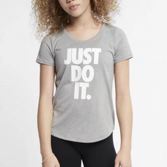 Koszulka Nike G NK DRY TEE LEG SCOOP JDI AR5087 063