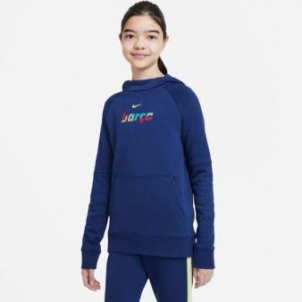 Bluza Nike FC Barcelona  Fleece Pullover Soccer Hoodie CI9533 492