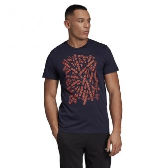 Koszulka adidas E LIN Scatter T DV3048