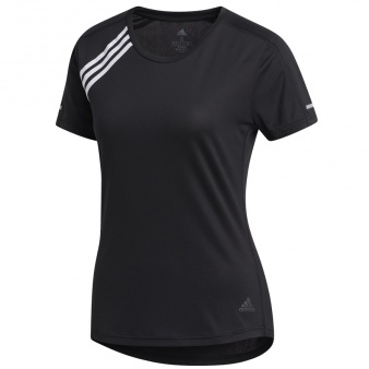 Koszulka biegowa adidas Run 3 Stripes Tee Women FK1602