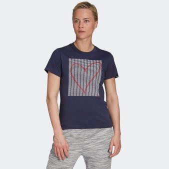 Koszulka adidas W ADI HEART T GD4997