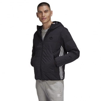 Kurtka adidas Originals Lightweight Zip Through Padded Trefoil Hoodie GE1342