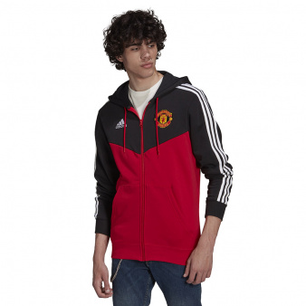 Bluza adidas Manchester United 3-Stripes Fullzip Hoody GR3897