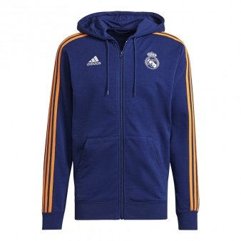Bluza adidas Real Madryt 3 Stripes Full Zip Hoodie GR4241