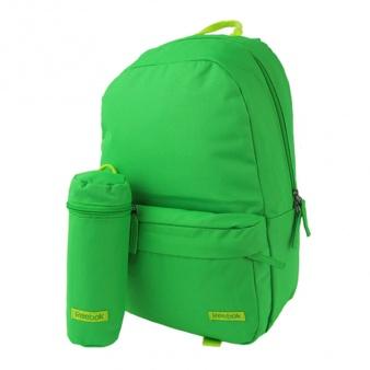 Plecak Reebok Z59261 BTS Logo zielony z piórnikiem