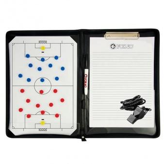 Tablica taktyczna piłka nożna - magnetyczna A4 + notatnik + gwizdek piłka nożna