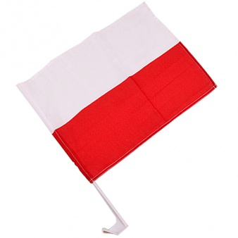 Flaga Polska 30x45 cm samochodowa