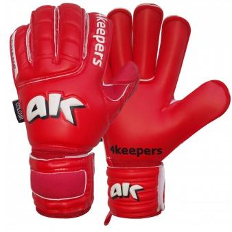 Rękawice 4keepers Champ Colour Red RF + płyn czyszczący S469385